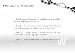 SWOT之劣势分析PPT模板下载