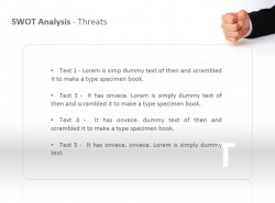 SWOT之威胁分析PPT模板下载