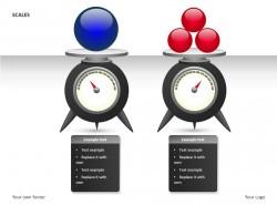 托盘秤之红蓝小球PPT素材下载