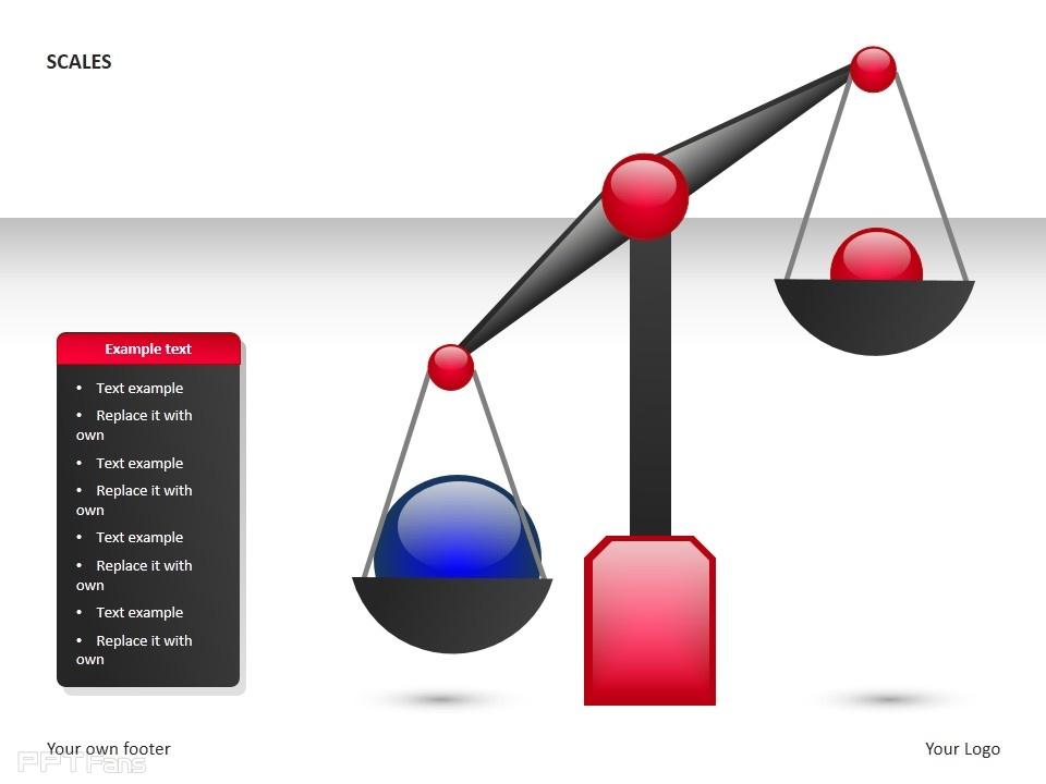 平衡秤之红蓝小球ppt素材下载