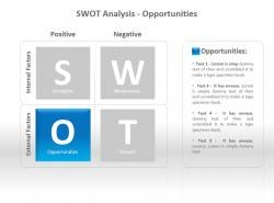 SWOT分析之机会PPT模板下载