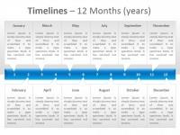 时间表之12月PPT模板下载