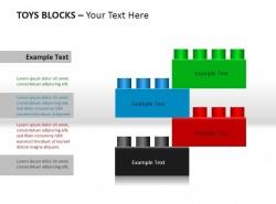 玩具块四部分说明PPT素材下载