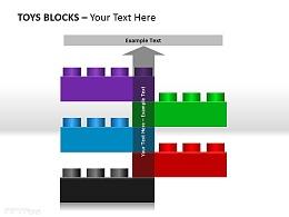 玩具块五部分说明PPT素材下载