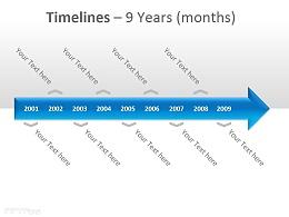 时间表之9年PPT模板下载