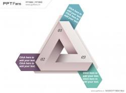 折纸式三角PPT模板