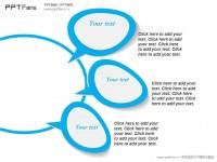 聊天气泡形状的总分关系PPT模板