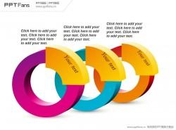 圆环3部分并列关系PPT模板