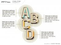 怀古风格立体字母PPT模板