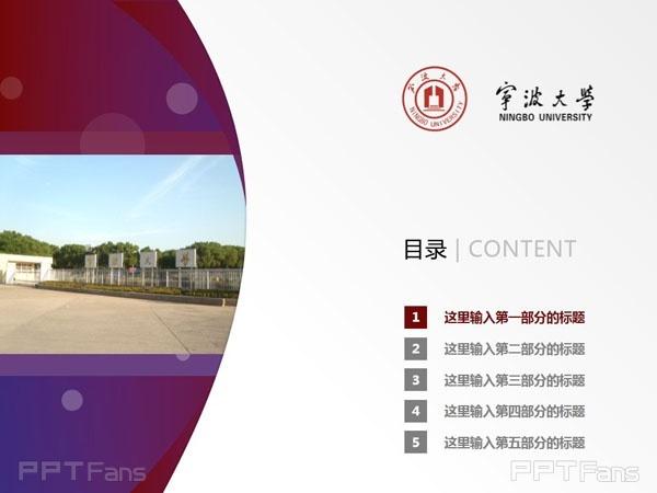 宁波大学ppt模板下载