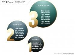 数字嵌入圆形三部分PPT下载