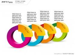 立体彩色圆环PPT模板下载