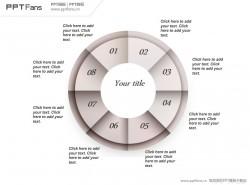 圆环时钟PPT模板下载