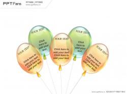 透明质感气球PPT模板下载