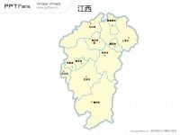 江西省地图矢量PPT模板