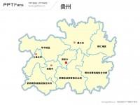 贵州省地图矢量PPT模板