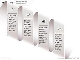 4部分递进关系,简洁、精美的PPT模板