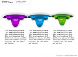 3部分个性文字说明PPT模板