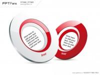 红白圆环PPT模板