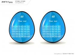 蓝色鸡蛋PPT模板