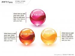 精美立体水晶球PPT模板