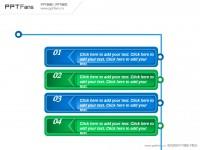 四部分目录式文字说明PPT模板