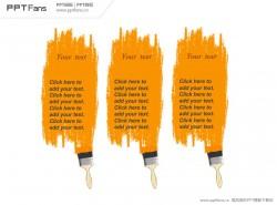 橙色油漆涂鸦PPT模板