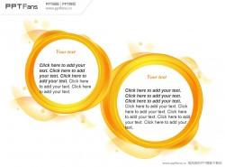 橙色圆镜PPT模板
