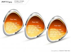 金属质感河蚌PPT模版下载
