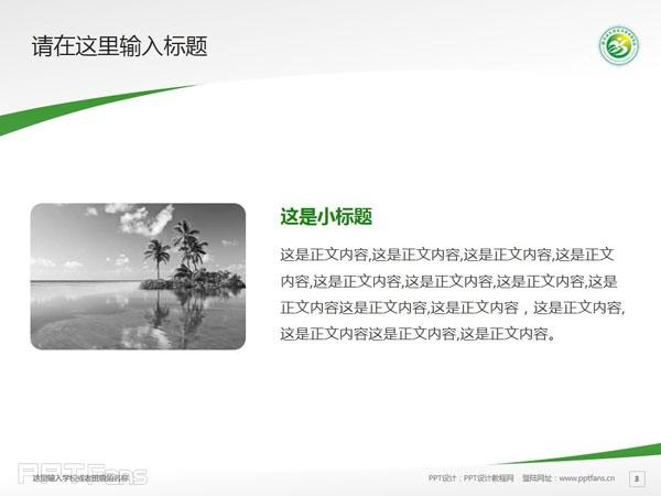 徐州幼儿师范高等专科学校PPT模板下载_幻灯片预览图4