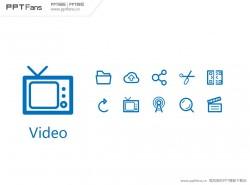30个PPT视频图标素材打包下载02
