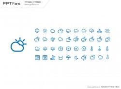 手机天气预报PPT图标打包下载