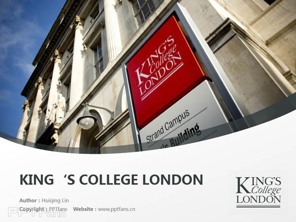 King's College London PPT Template Download | 伦敦大学国王学院PPT模板下载_幻灯片0