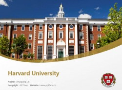Harvard University powerpoint template download | 哈佛大学PPT模板下载