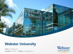 Webster University powerpoint template download | 韦伯斯特大学PPT模板下载