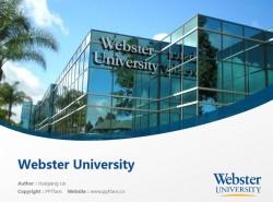 Webster University powerpoint template download | 韦伯斯特大学PPT模板下载