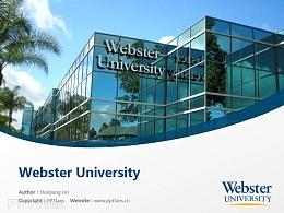 Webster University powerpoint template download   韋伯斯特大學PPT模板下載