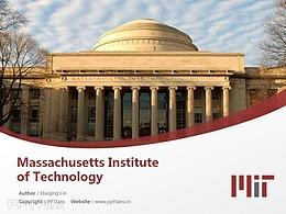 Massachusetts Institute of Technology powerpoint template download   麻省理工學院PPT模板下載