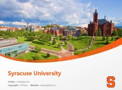 Syracuse University powerpoint template download | 雪城大学PPT模板下载