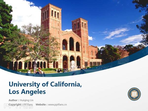 University of California, Los Angeles powerpoint template download   加州大学洛杉矶分校PPT模板下载_slide1