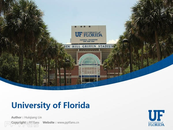 University Of Florida Powerpoint Template Download