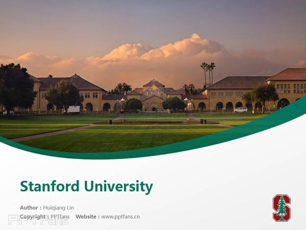 Stanford University powerpoint template download | 斯坦福大学PPT模板下载_幻灯片预览图1