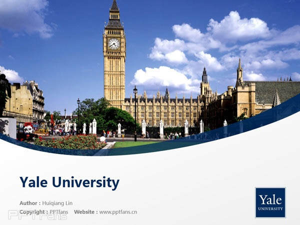 yale university powerpoint template download