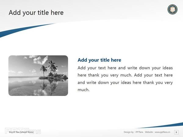 University of California, Los Angeles powerpoint template download   加州大学洛杉矶分校PPT模板下载_slide4