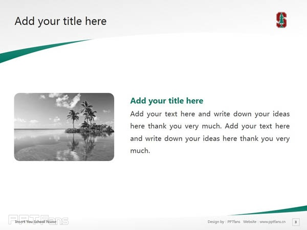 Stanford University powerpoint template download | 斯坦福大学PPT模板下载_slide4