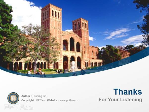 University of California, Los Angeles powerpoint template download   加州大学洛杉矶分校PPT模板下载_slide18