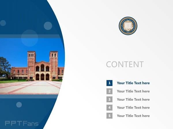 University of California, Los Angeles powerpoint template download   加州大学洛杉矶分校PPT模板下载_slide2