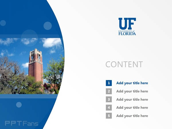 University of Florida powerpoint template download | 佛罗里达大学 ...