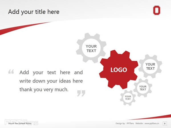 Ohio State University powerpoint template download | 俄亥俄州立大学PPT模板下载_slide9