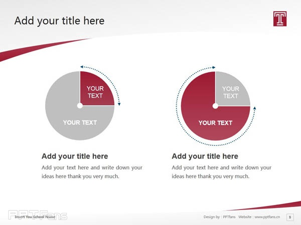 Temple University powerpoint template download | 天普大学PPT模板下载_slide5